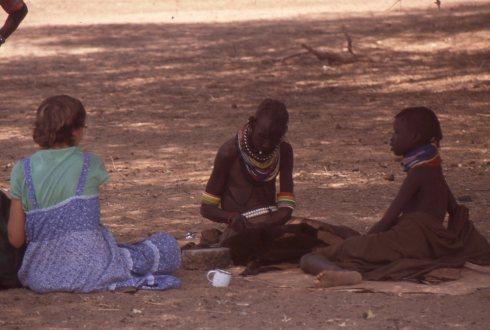 Ekuwam, Melanie Renfrew interviewing 2 Lotubai ngaberu