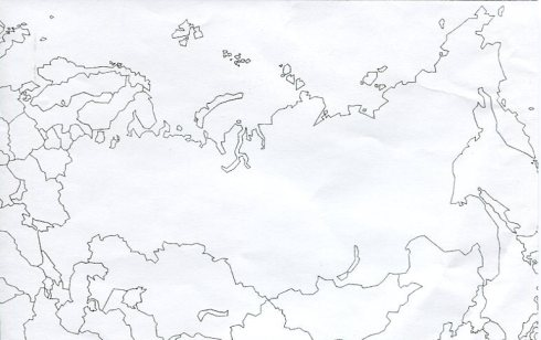 Blank Map Of Russia With Rivers - Blank map of russia