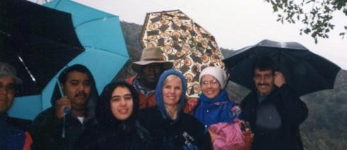 Singin' in the rain - Eaton Canyon, Geography field trip, Dr. M. Renfrew