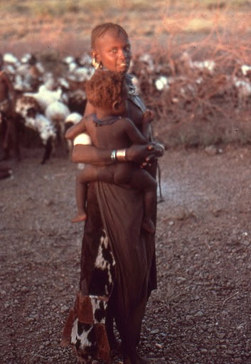 Turkana herding mom