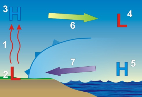 sea breeze circulation oceanservice.noaa.gov-education