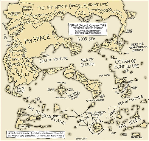 xkcd's 2006 Map of Internet Protocol Addresses xkcd's 2007 World Map of the