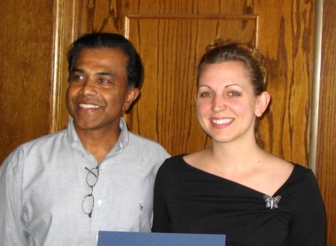 Dr. Tissa Munasinghe LAHC Geology,  Christine Zuhlsdorf (Scholarship abundance winner, LAHC grad and UCLA GEOG queen), my buddies