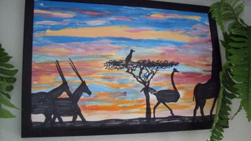 eland-ostrich-giraffe-migrating-dr-m-renfrew-painting