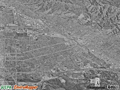 Burbank from the air, city-data