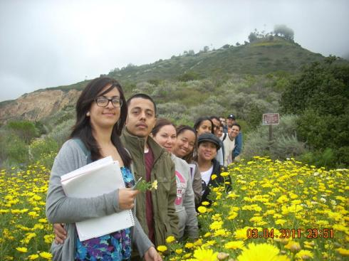 Geography Students at Forrestal Canyon, 3-20-11