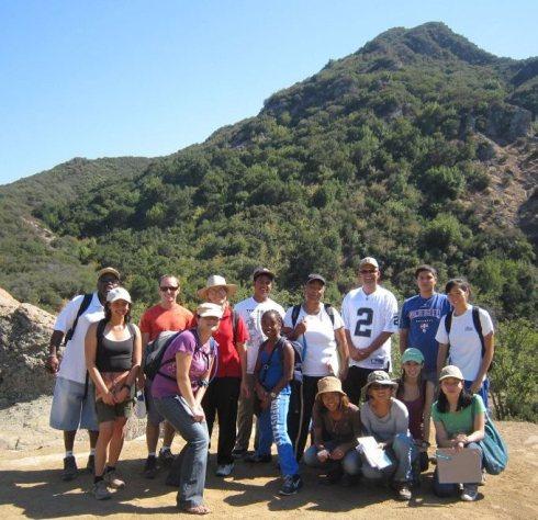 Malibu Creek uphill from Rock Pool, 9-11-11 Lab class
