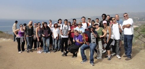 LAHC Geography Field Trip, Dr. Melanie Renfrew, Portuguese Bend overlook, Ocean Trails,  10-15-11