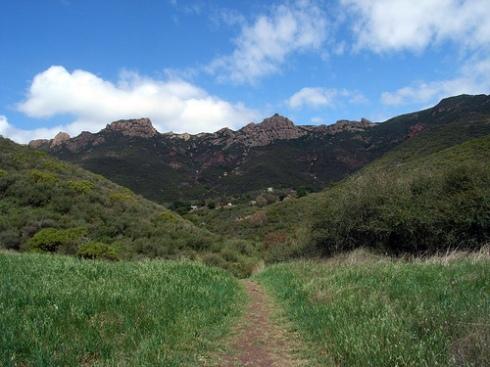 Satwiwa trail to waterfall, Rancho Sierra Vista
