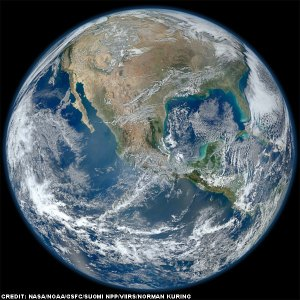 nasa-satellite showing brown North America