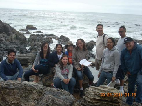 Tide pools, Ocean Trails beach, 3-20-11 Geography field trip, Dr Melanie Renfrew