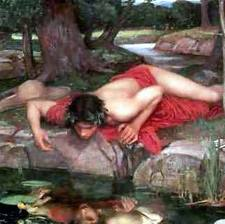 Narcissus obsessed with himself