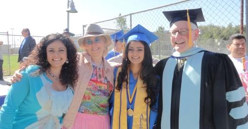 Yvette Parra, Dr. Melanie Renfrew, Natalie Parra, Dr. Bill Lauterman, June 2012