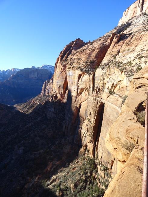 Zion Canyon view hike past tunnel, Jan. 2013, Dr. M Renfrew