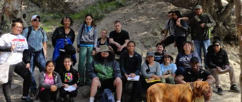Eaton Canyon Field trip, LAHC Geography 1, 2-18-13