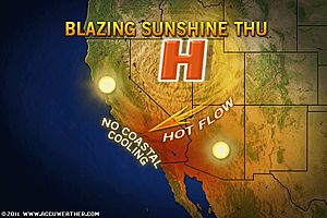 """Accuweather has their wording right """"HOT FLOW"""""""