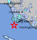 4.0 earthquake San Pedro, CA 5-15-13 Felt intensity by zip code