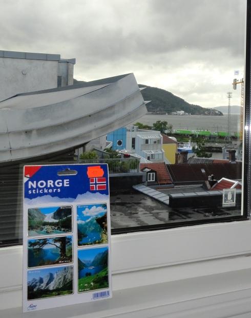 Sticker photos of fjords, Trondheim, Norway July 2013
