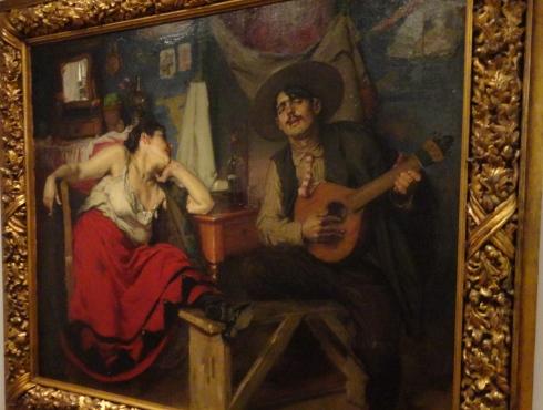Fado Museum painting, Lisbon