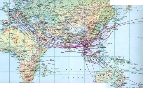 Thai Airlines route Map