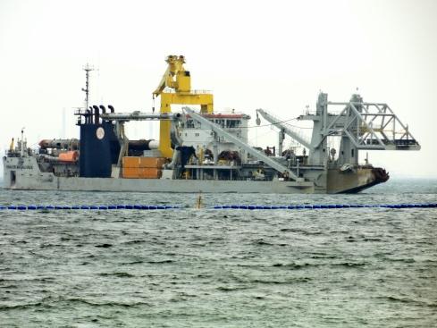 Drilling ship, Singapore coast
