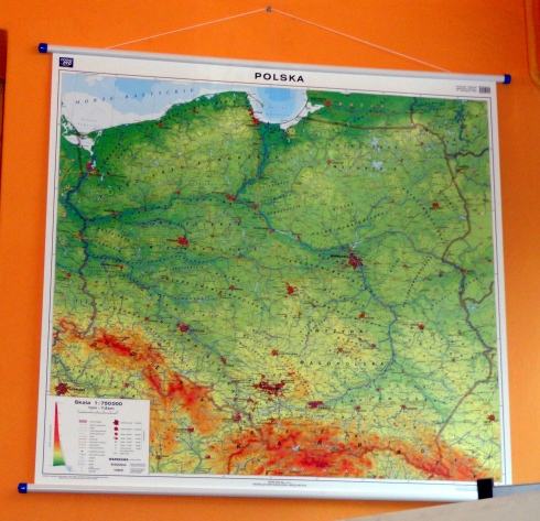 Map of Poland at Atlas store