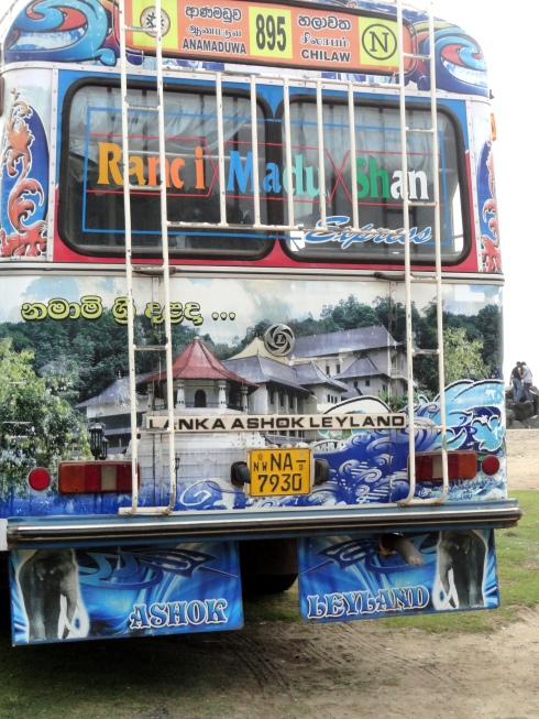 Painted bus, Negambo beach, Sri Lanka
