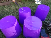 Put drainage holes in $1 wastebaskets, bowls