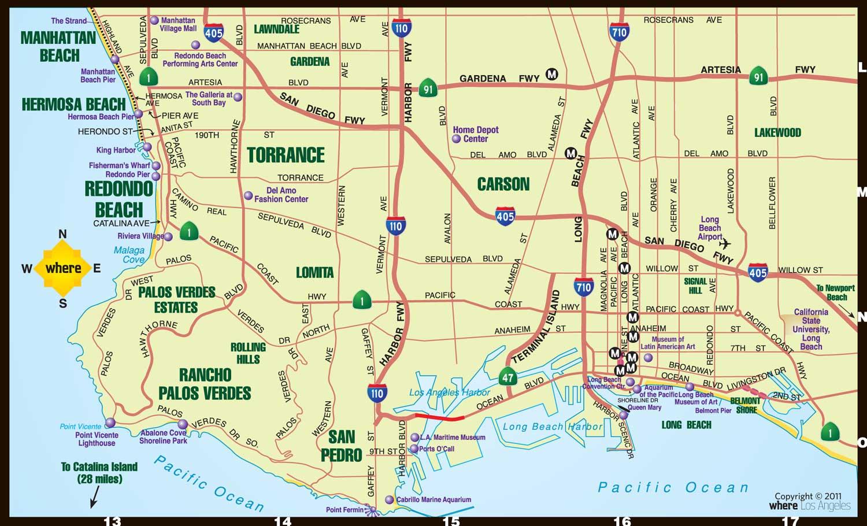 Maps Update La Tourist Attractions Map Los Angeles - Longitude los angeles us map