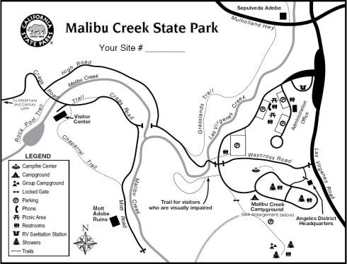 Malibu Creek State Park map