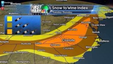 Snow to Wind Index map