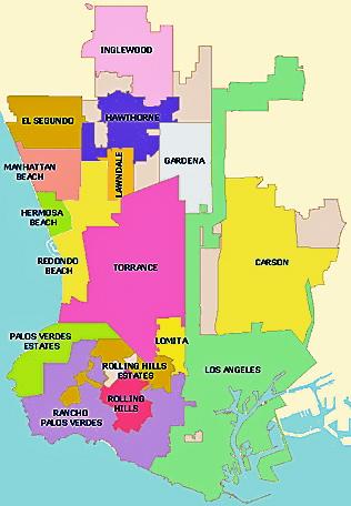 Carson Real Estate   South Bay Creative Office   NGKF   Bay Area Map Los Angeles