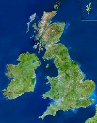 UK satellite view