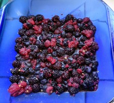 Layering flavors berries, chili