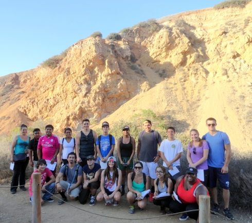 Forrestal Canyon 9-14-14 LAHC Geography Students, Dr. Renfrew