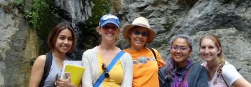 Brenda, Cori, MPR, Elizabeth, Renee, 10-31-14, Eaton waterall