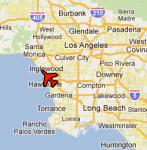 LAX location, Google map