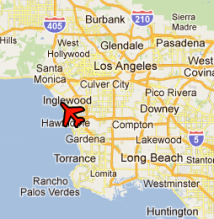 LAX location, Google map