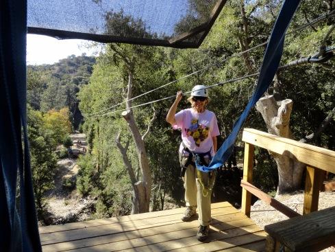 Melanie R ziplining Forest Falls 10-11-14
