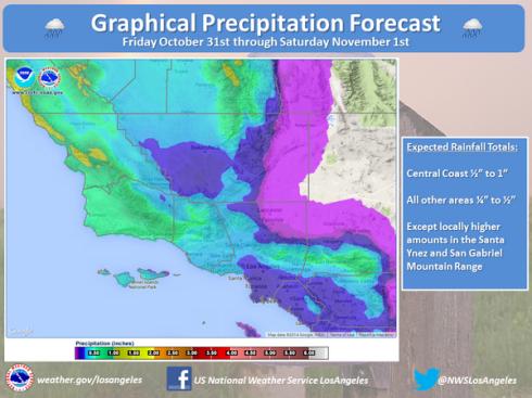 NWS Rain L.A. 10-31-14 graphic