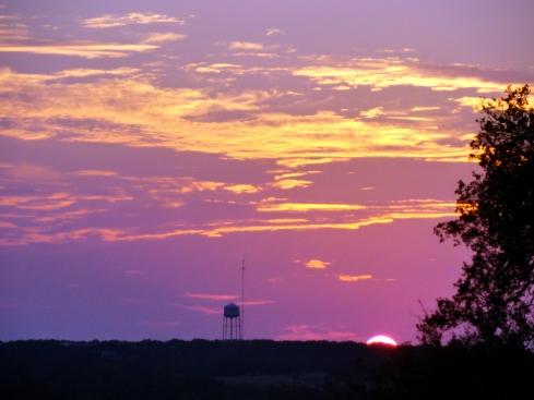Purple sunset, E of Georgetown, TX 10-14