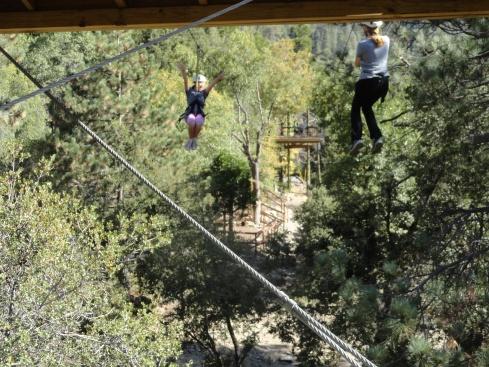 Shannon, Mary ziplining