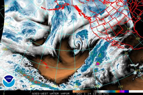 12-1- Eastern Pacific radar SW moisture plume, NOAA
