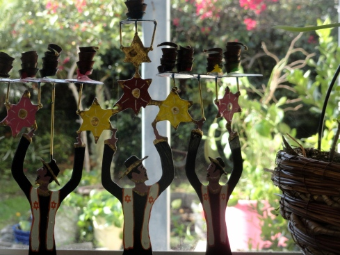 Dancing rabbis on my window sill, 12-12-14 MP Renfrew