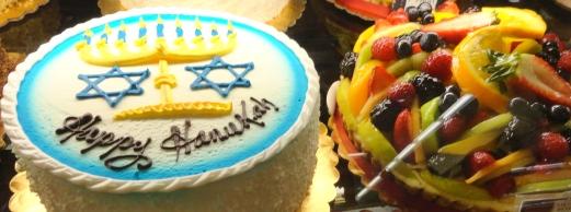Gelson's Happy Hanukkah Cake, 12-21-14