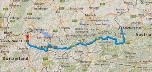 Salzburg to Zurich Train