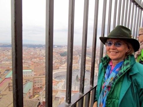 Atop Vatican cupola, Jan. 2015, Melanie Renfrew