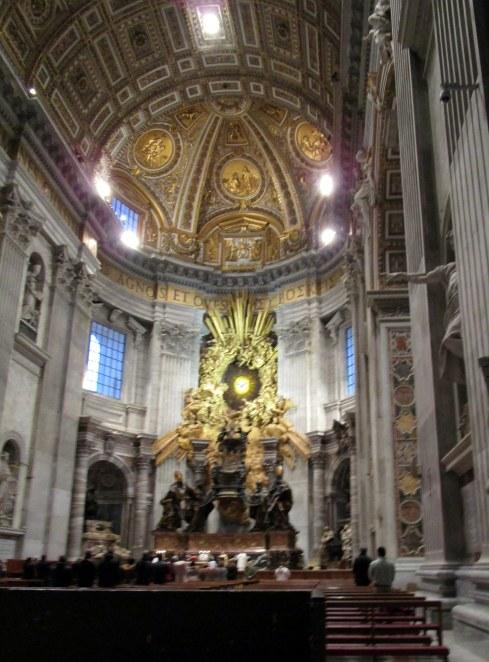 Inside Vatican gonig to mass, Jan. 2015 MPR