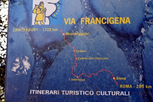 Pilgrimage trail map Monteriggioni, MMP Renfrew