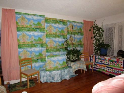 Monet fabric peach wall, 5-2-15 MP Renfrew